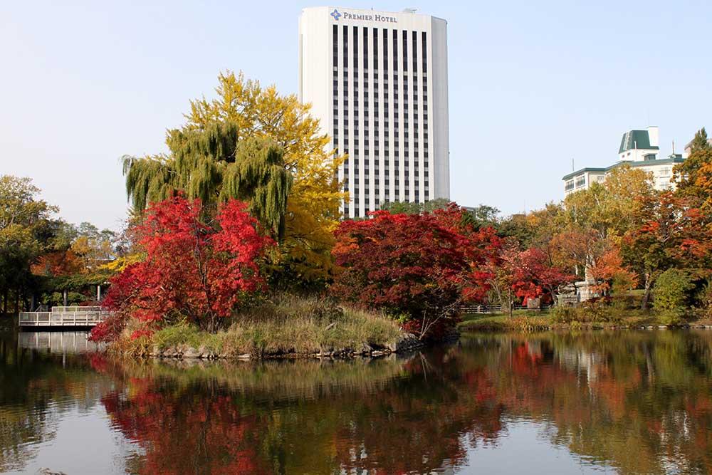 札幌中島公園の紅葉
