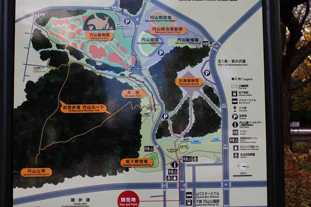 札幌円山公園の見取り図