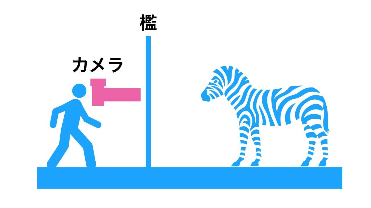 動物園撮影で檻を消す方法