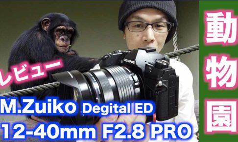 【M.ZUIKO.DEGITAL ED 12-40mm F2.8 PROレビュー】動物園でも使える!【画角と解像感】